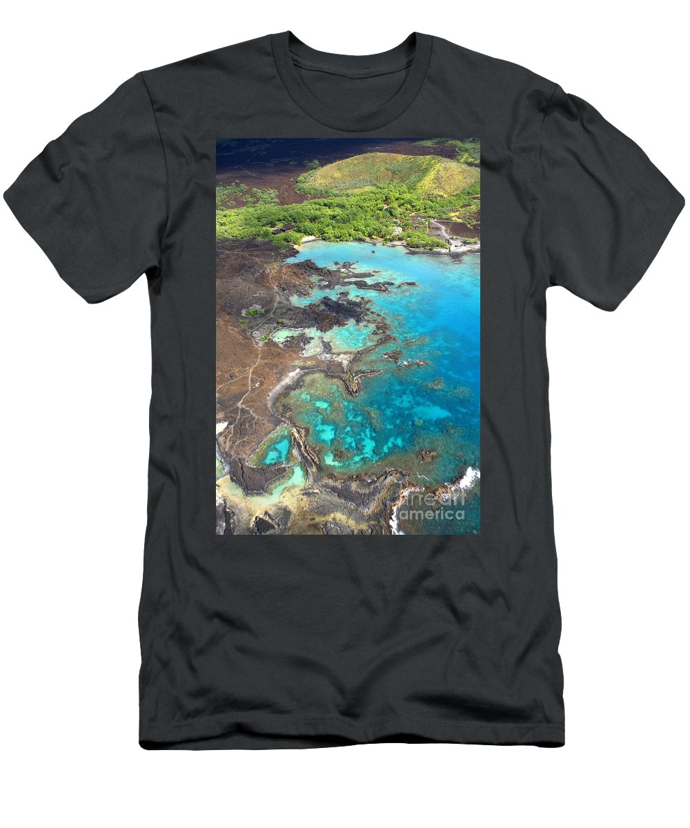Aerial Men's T-Shirt (Athletic Fit) featuring the photograph La Perouse Bay by Ron Dahlquist - Printscapes
