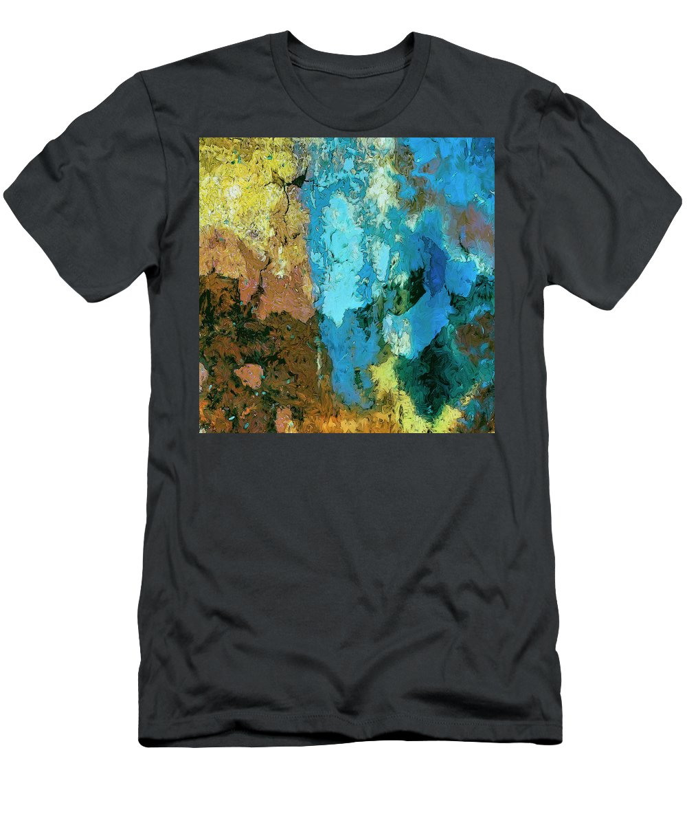 Abstract Men's T-Shirt (Athletic Fit) featuring the painting La Playa by Dominic Piperata