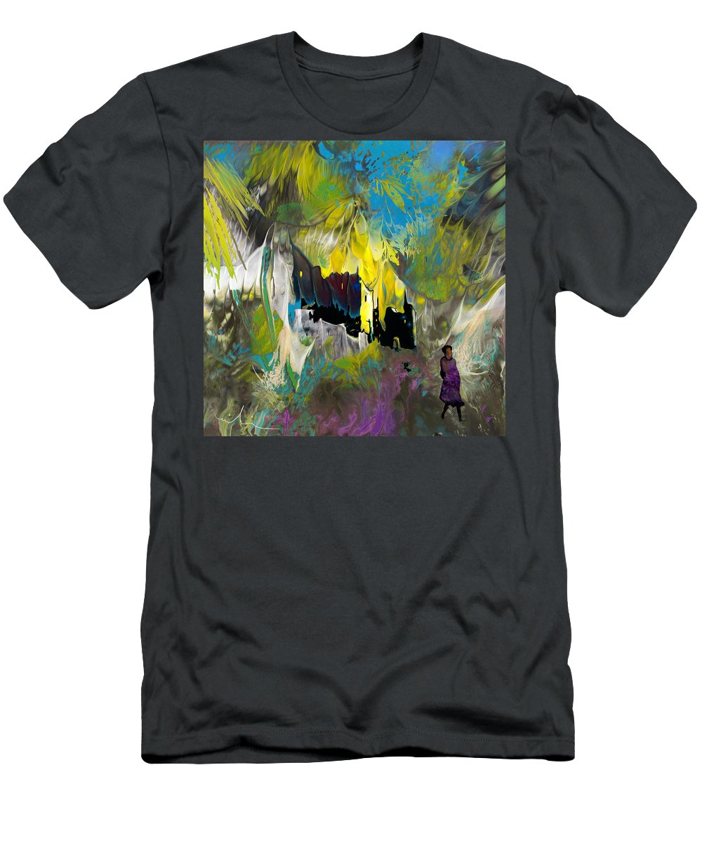 Impressionism Men's T-Shirt (Athletic Fit) featuring the painting La Provence 24 by Miki De Goodaboom