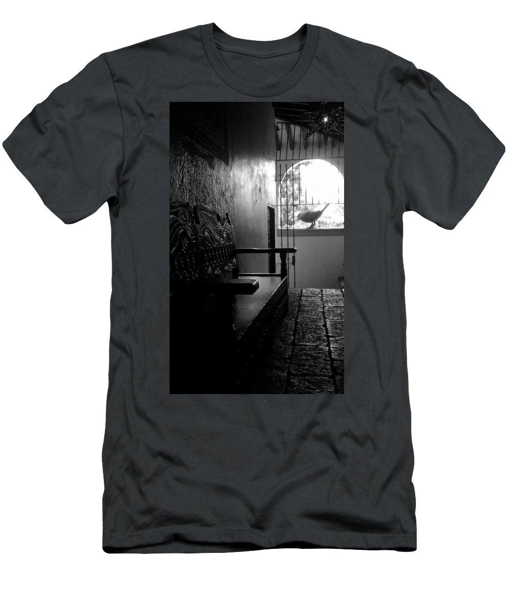 B&w Men's T-Shirt (Athletic Fit) featuring the photograph La Roca by Elyse Fehrenbach