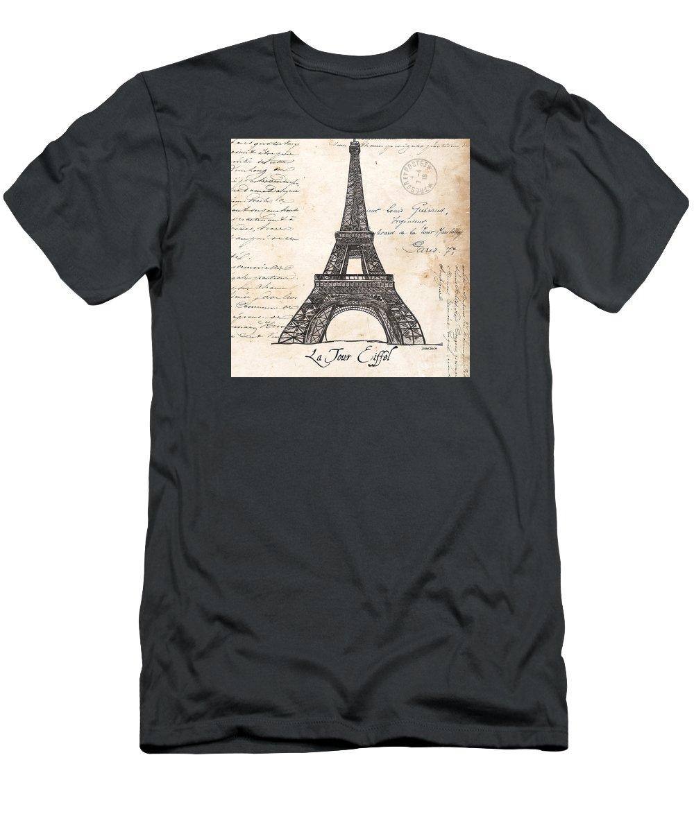 Eiffel Tower T-Shirt featuring the painting La Tour Eiffel by Debbie DeWitt
