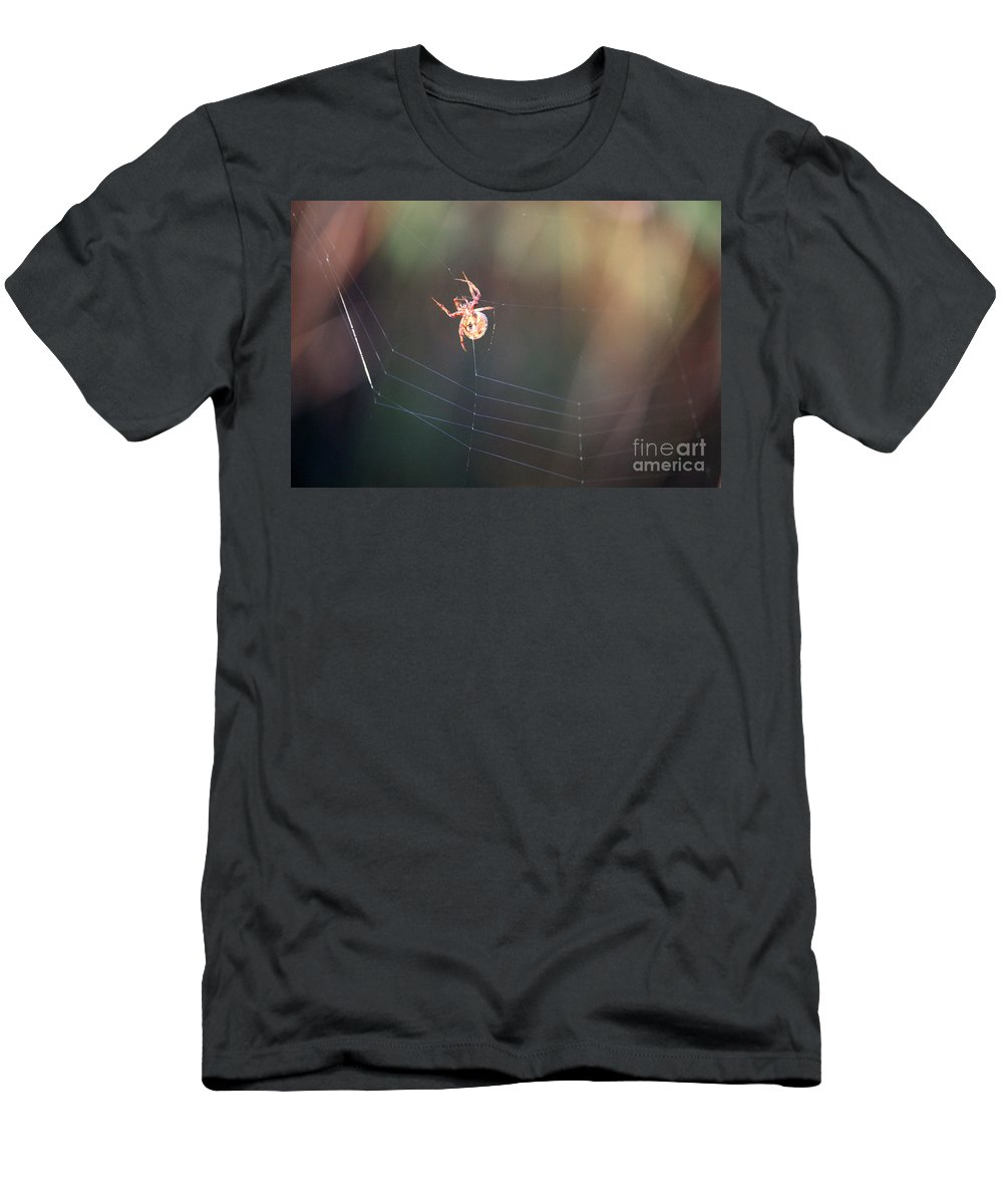 Spider Men's T-Shirt (Athletic Fit) featuring the photograph Lady In The Marsh by Carol Groenen