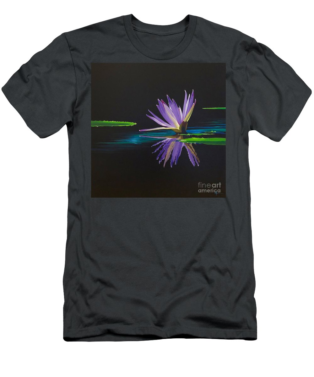 Waterlily T-Shirt featuring the painting Lagan Love by Hunter Jay