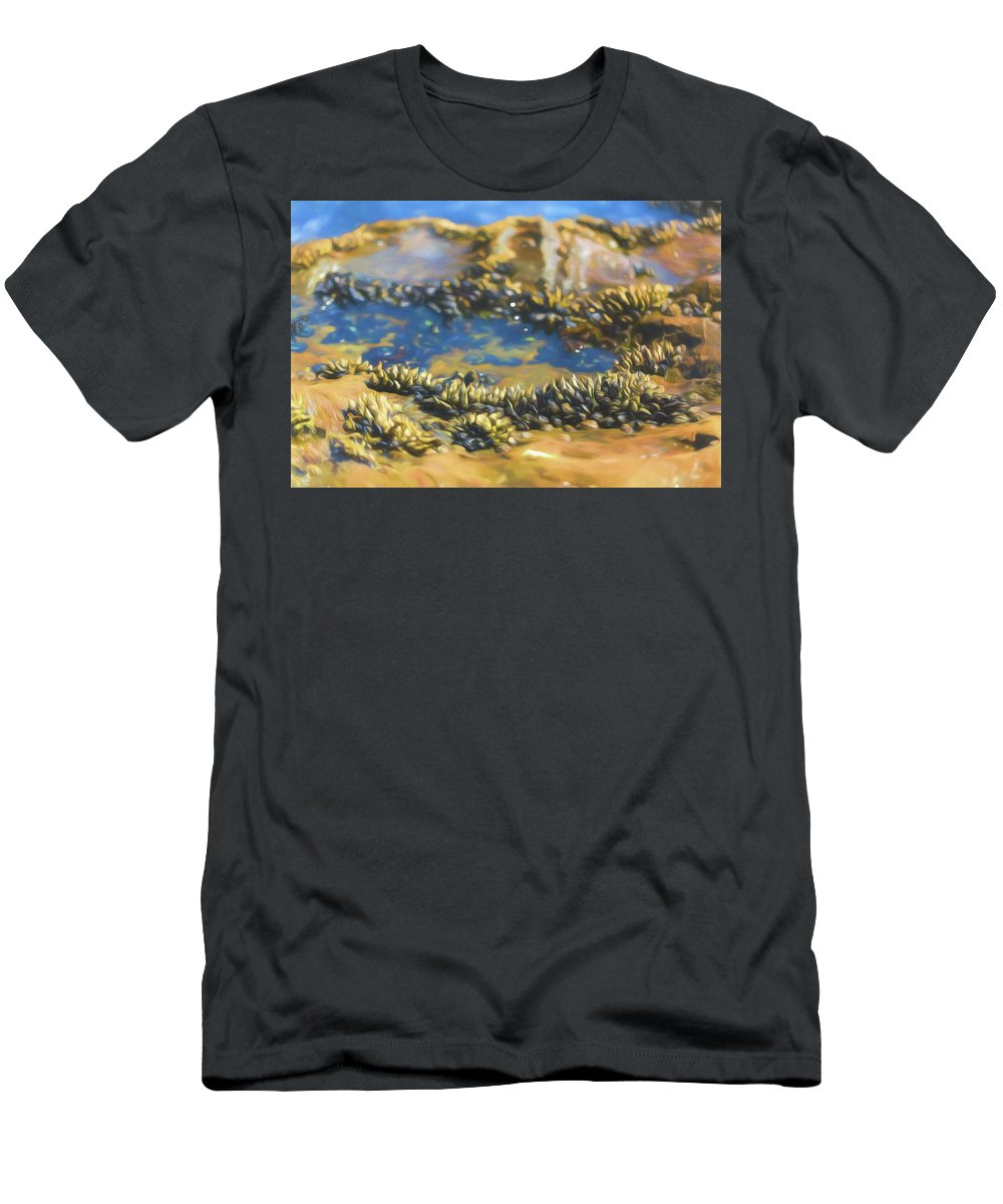 Shell Men's T-Shirt (Athletic Fit) featuring the photograph Laguna Beach Tide Pool Pattern 3 by Scott Campbell