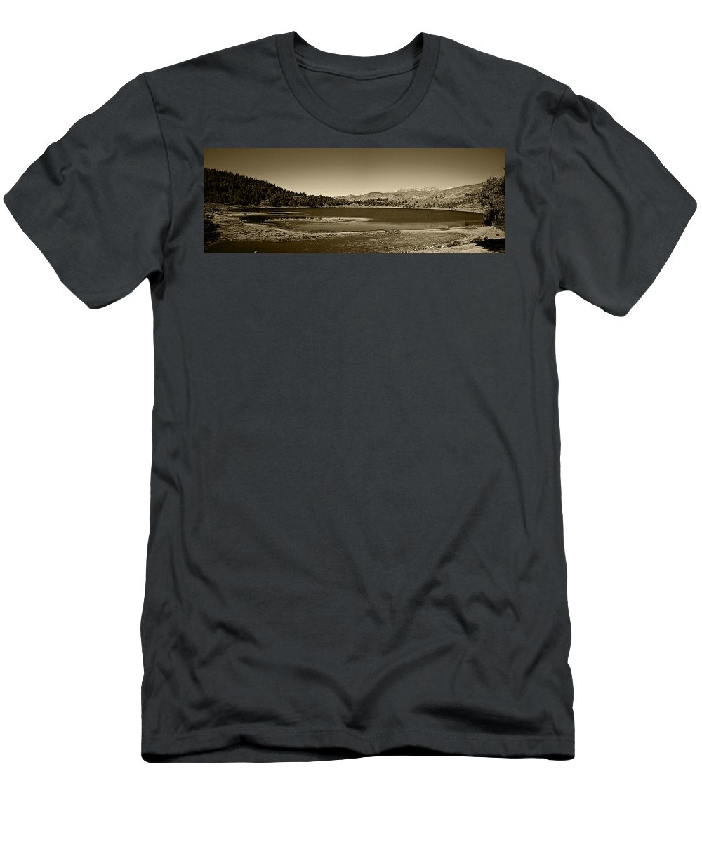 Lake Men's T-Shirt (Athletic Fit) featuring the photograph Laguna Mucubaji - Andes by Galeria Trompiz