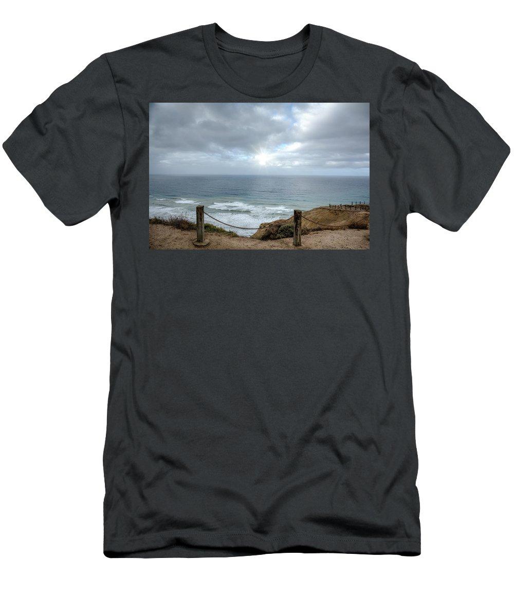 Lajolla Men's T-Shirt (Athletic Fit) featuring the photograph La Jolla Cliffs by Joan Baker