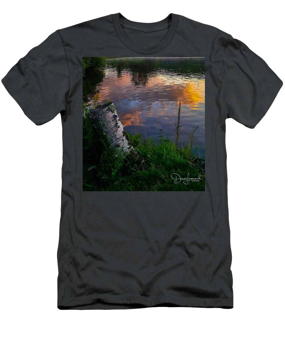 Men's T-Shirt (Athletic Fit) featuring the photograph Lake Elmore Retreat by Dave Leonard