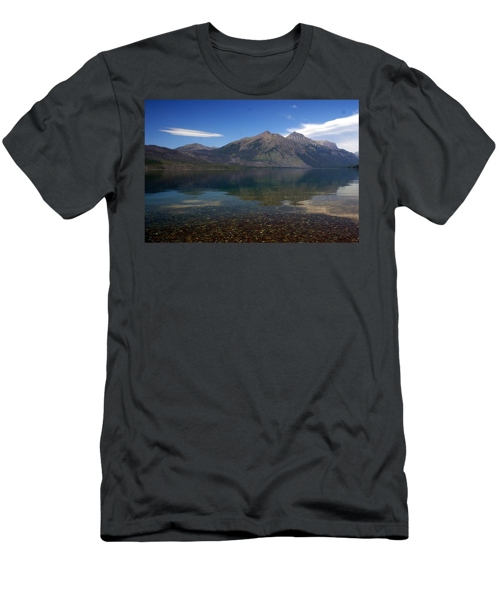 Landscape Men's T-Shirt (Athletic Fit) featuring the photograph Lake Mcdonald Reflection Glacier National Park 2 by Marty Koch