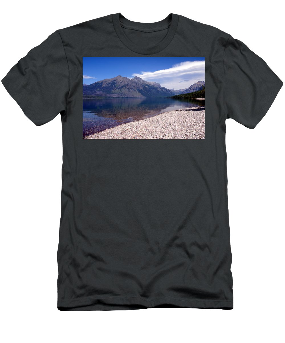 Glacier National Park Men's T-Shirt (Athletic Fit) featuring the photograph Lake Mcdonald Reflection Glacier National Park 4 by Marty Koch