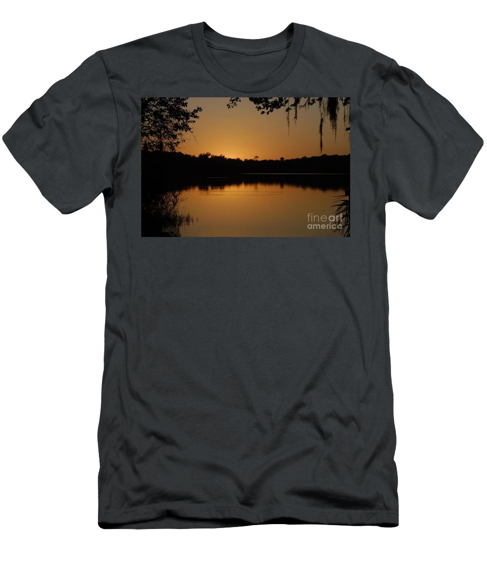 Lake Men's T-Shirt (Athletic Fit) featuring the photograph Lake Reflections by David Lee Thompson
