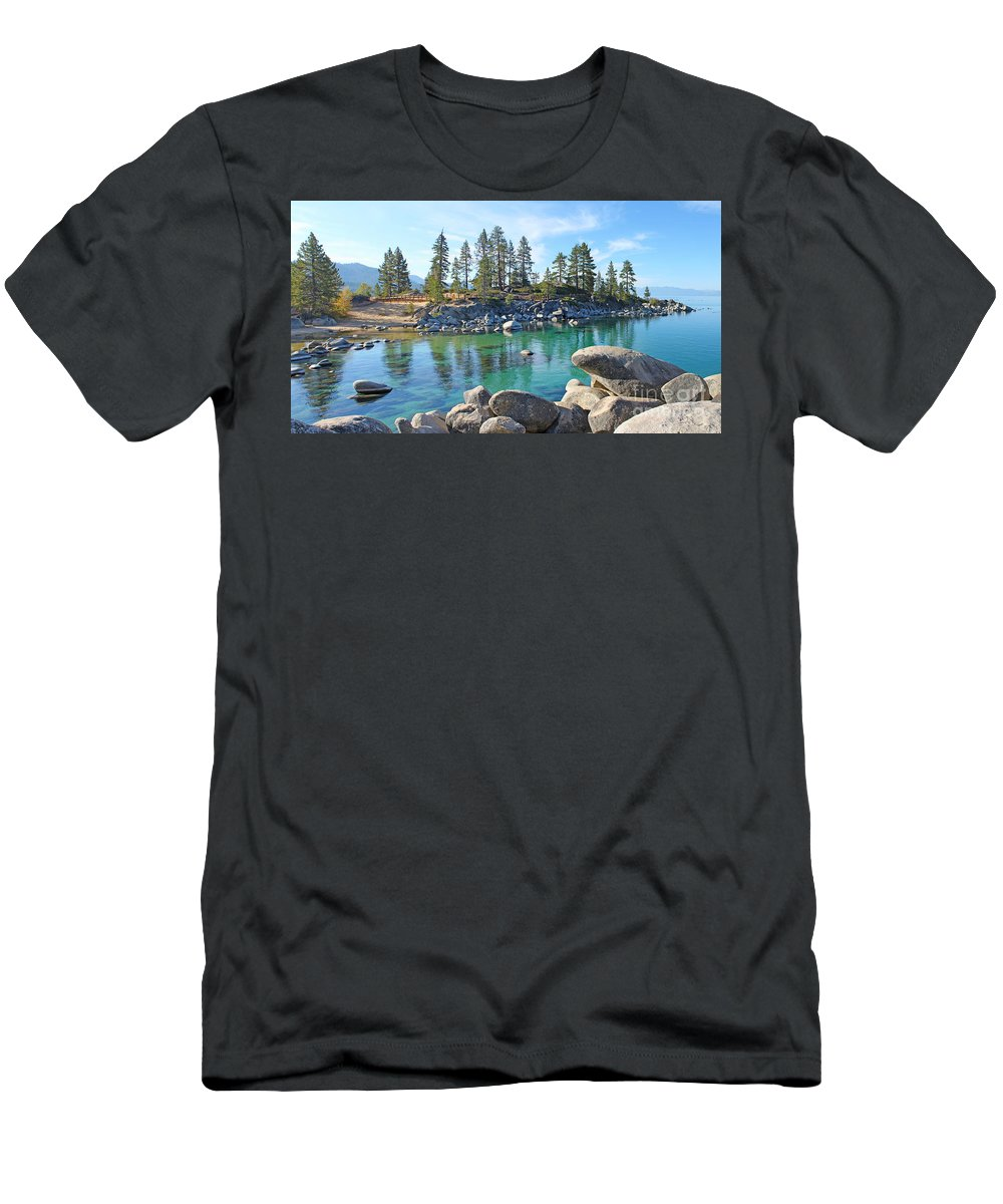 Lake Tahoe Men's T-Shirt (Athletic Fit) featuring the photograph Lake Tahoe by Jack Schultz