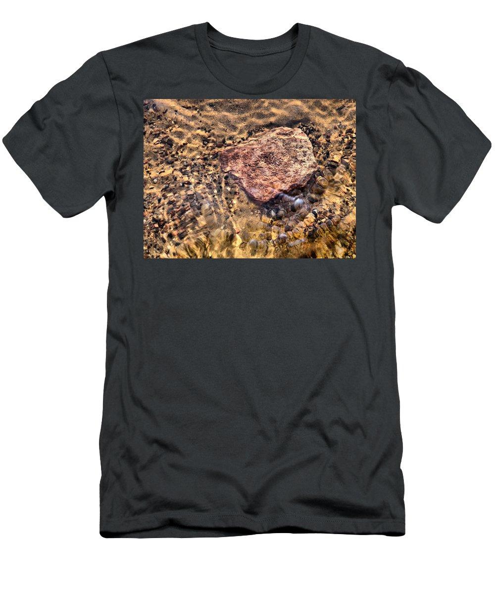 Haukkajärvi Men's T-Shirt (Athletic Fit) featuring the photograph Lakescapes 4 by Jouko Lehto