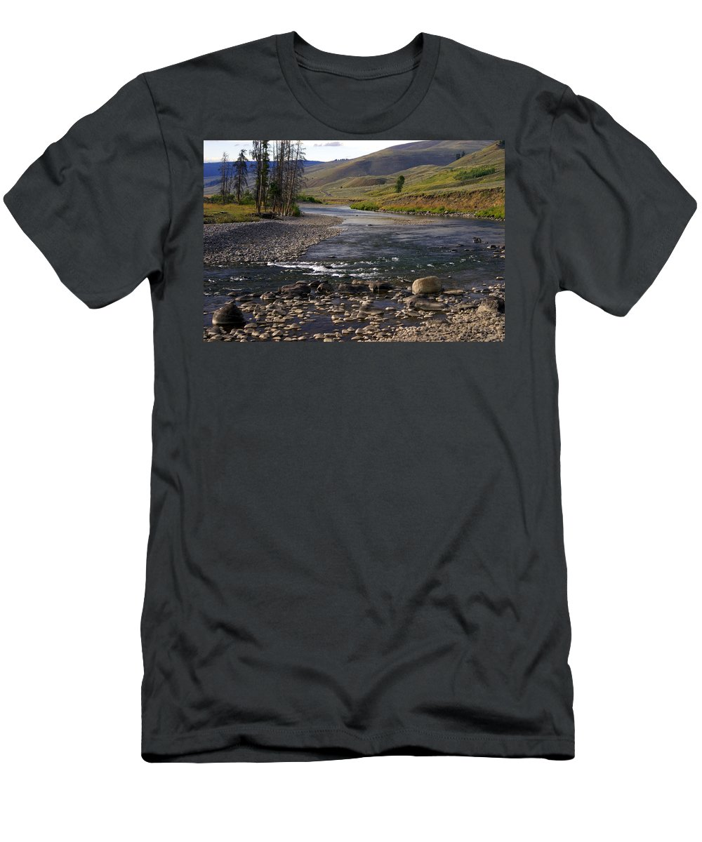 Yellowstone National Park Men's T-Shirt (Athletic Fit) featuring the photograph Lamar Valley 3 by Marty Koch