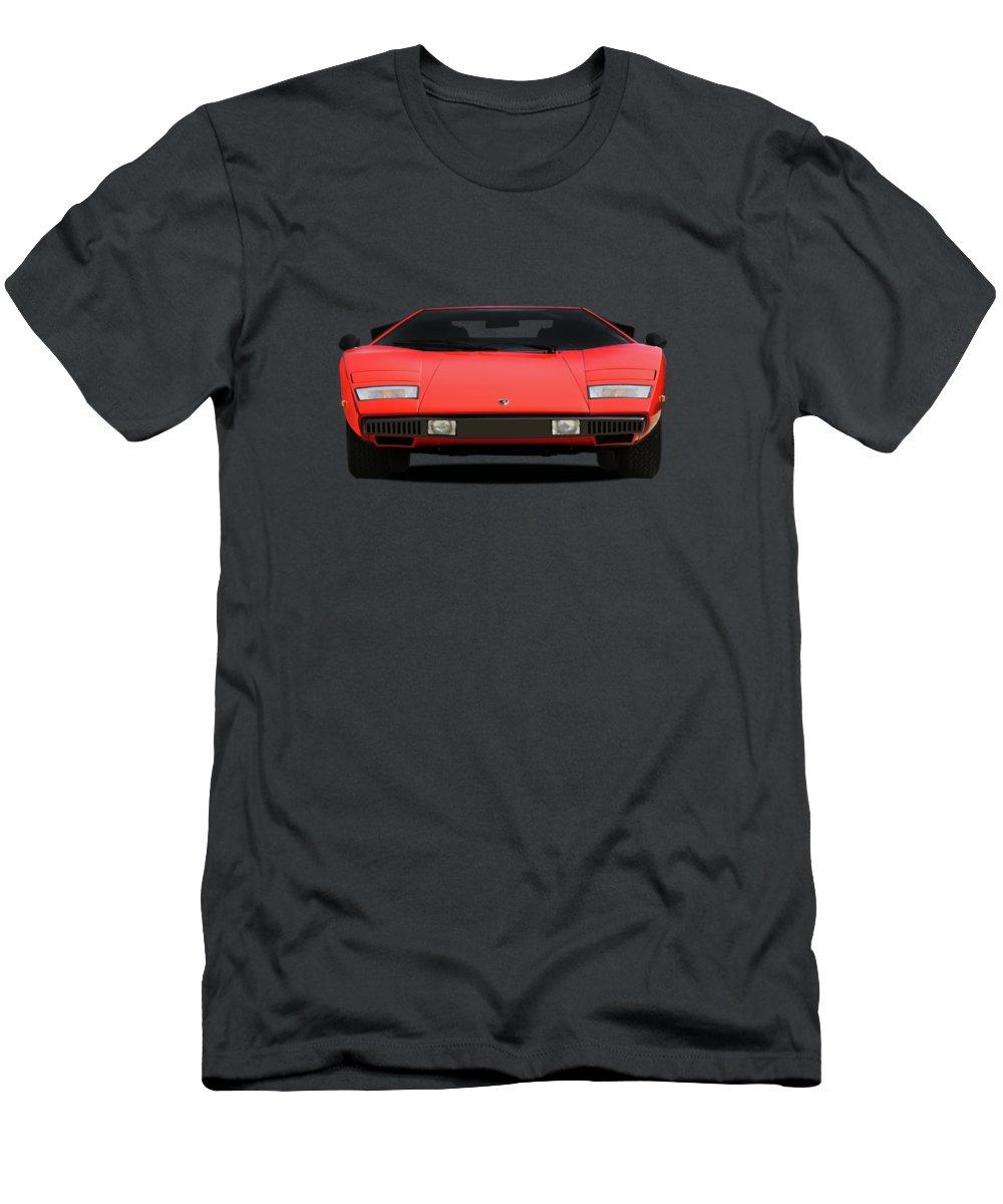Lamborghini Countach Men's T-Shirt (Athletic Fit) featuring the photograph Lamborghini Countach by Mark Rogan