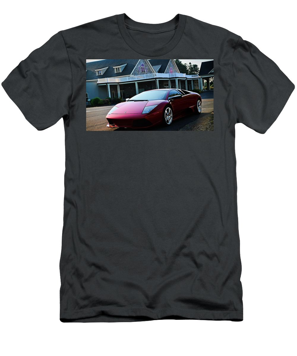 Lamborghini T-Shirt featuring the photograph Lamborghini by Jackie Russo