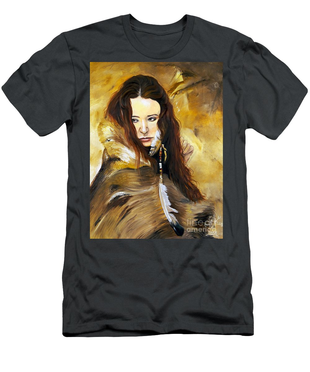 Southwest Art T-Shirt featuring the painting Lament by J W Baker