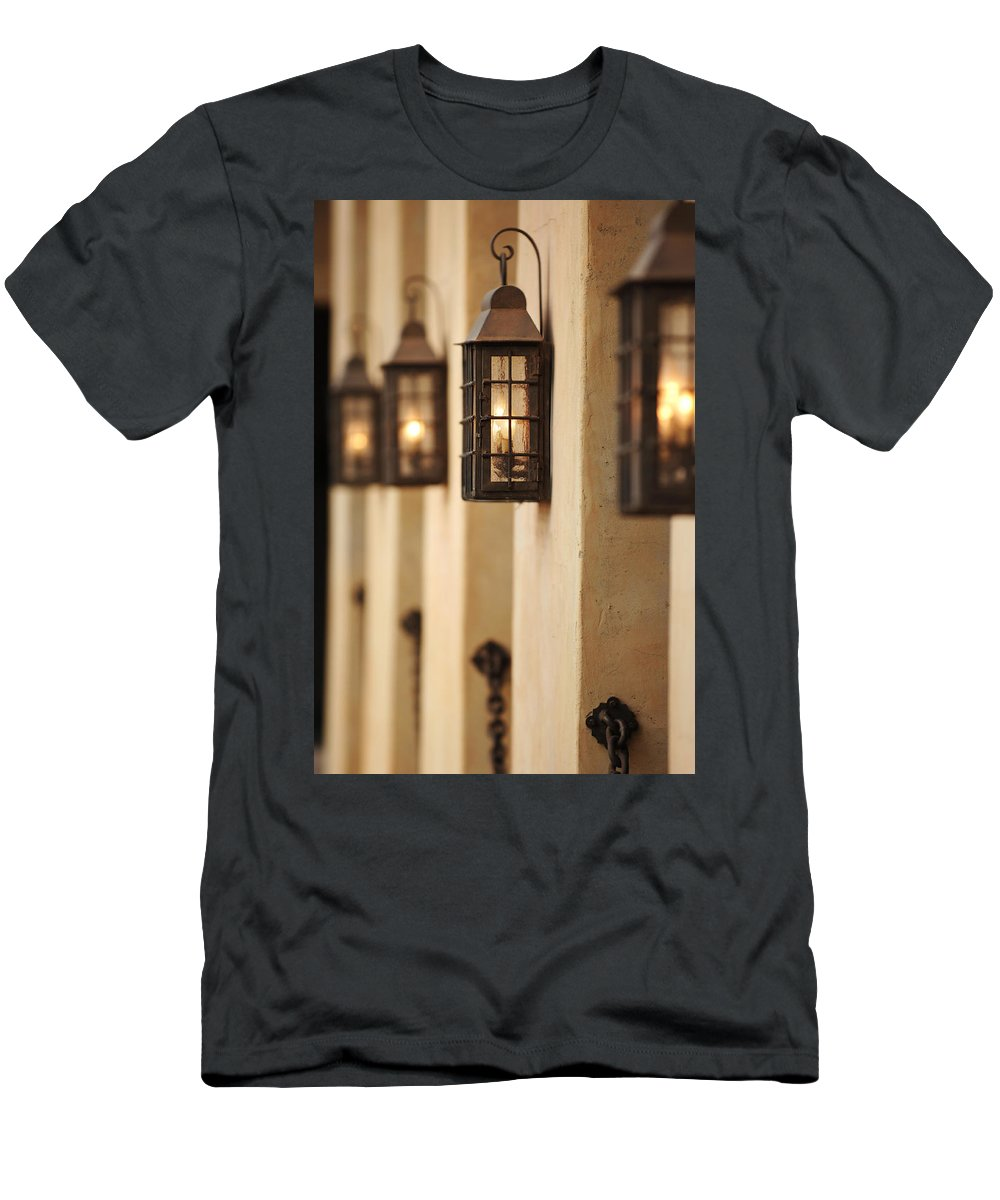 Urban Men's T-Shirt (Athletic Fit) featuring the photograph Lamp Light by Jill Reger