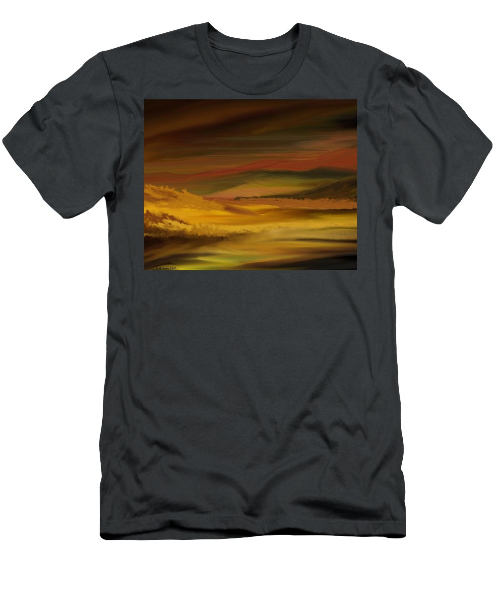 Fine Art Men's T-Shirt (Athletic Fit) featuring the digital art Landscape 022111 by David Lane