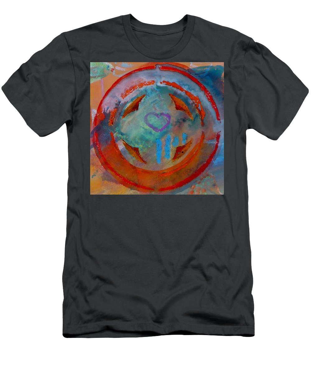 Love Men's T-Shirt (Athletic Fit) featuring the painting Landscape Seascape by Charles Stuart