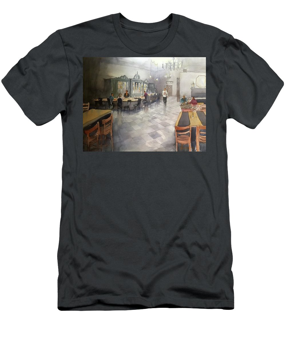 Men's T-Shirt (Athletic Fit) featuring the painting Lanier's by Scott Serafy