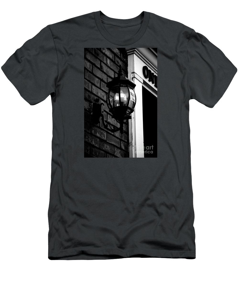 Nashville Men's T-Shirt (Athletic Fit) featuring the photograph Lantern Black And White by Marina McLain