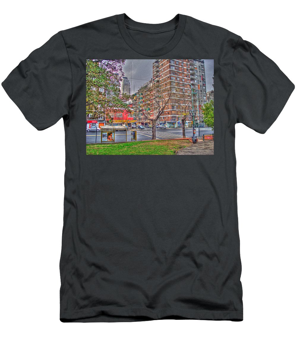 Street Men's T-Shirt (Athletic Fit) featuring the photograph Las Heras by Francisco Colon