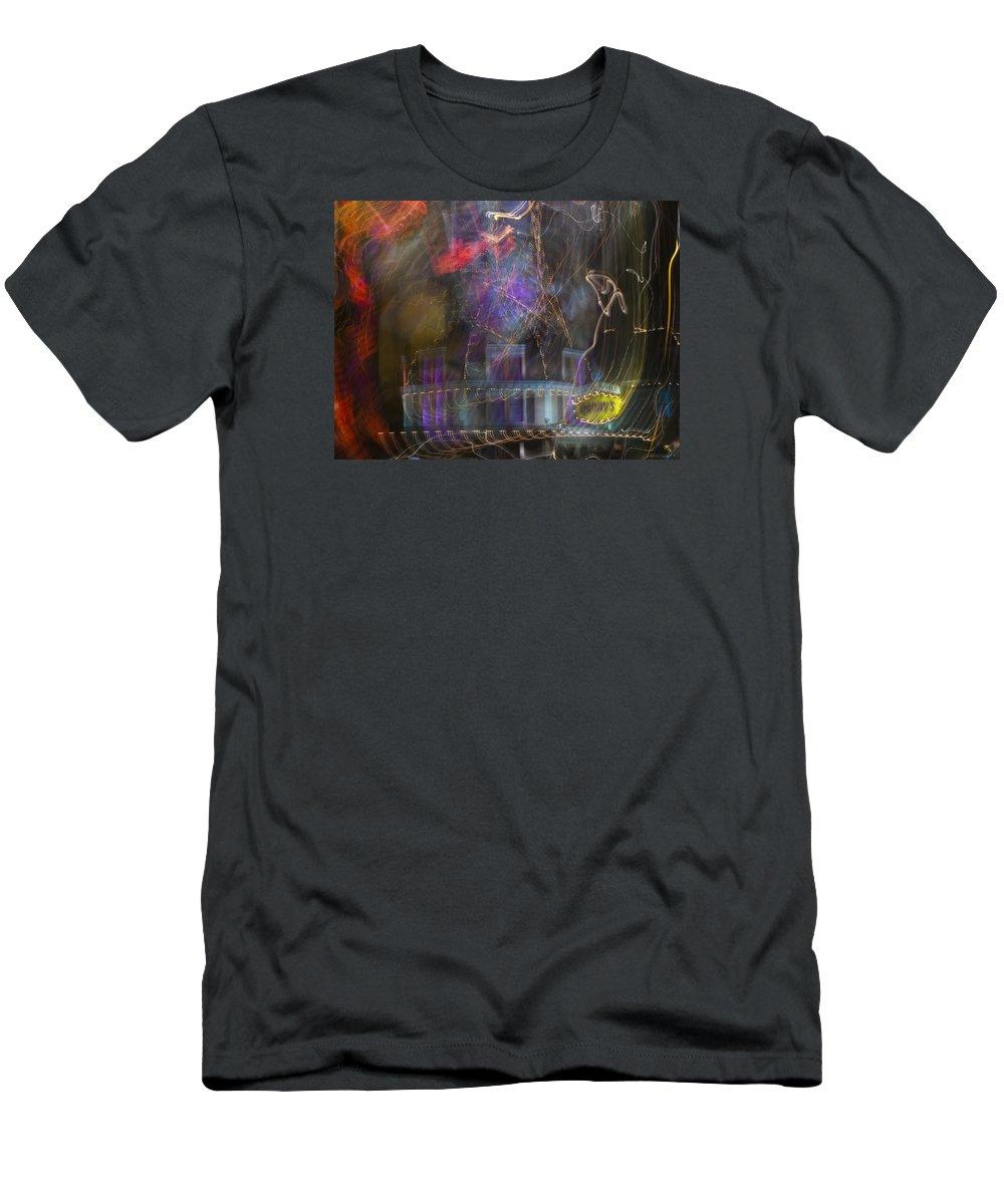 Las Vegas Men's T-Shirt (Athletic Fit) featuring the photograph Las Vegas Strip 2182 by Bob Neiman