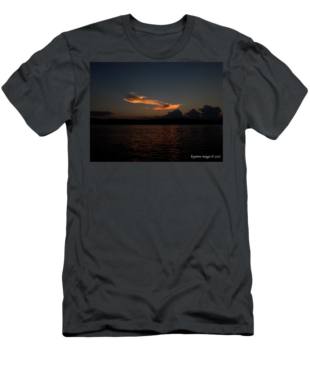 Lake Life Men's T-Shirt (Athletic Fit) featuring the photograph Last Light by Jerry Wilson