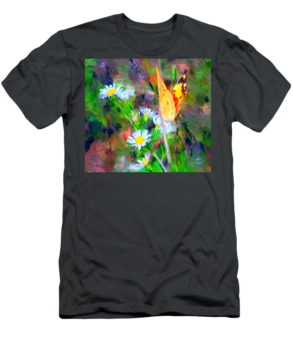 Landscape Men's T-Shirt (Athletic Fit) featuring the painting Last Of The Season by David Lane