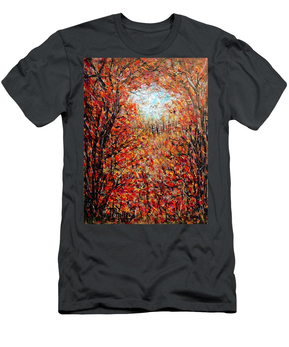 Autumn T-Shirt featuring the painting Late Autumn by Natalie Holland