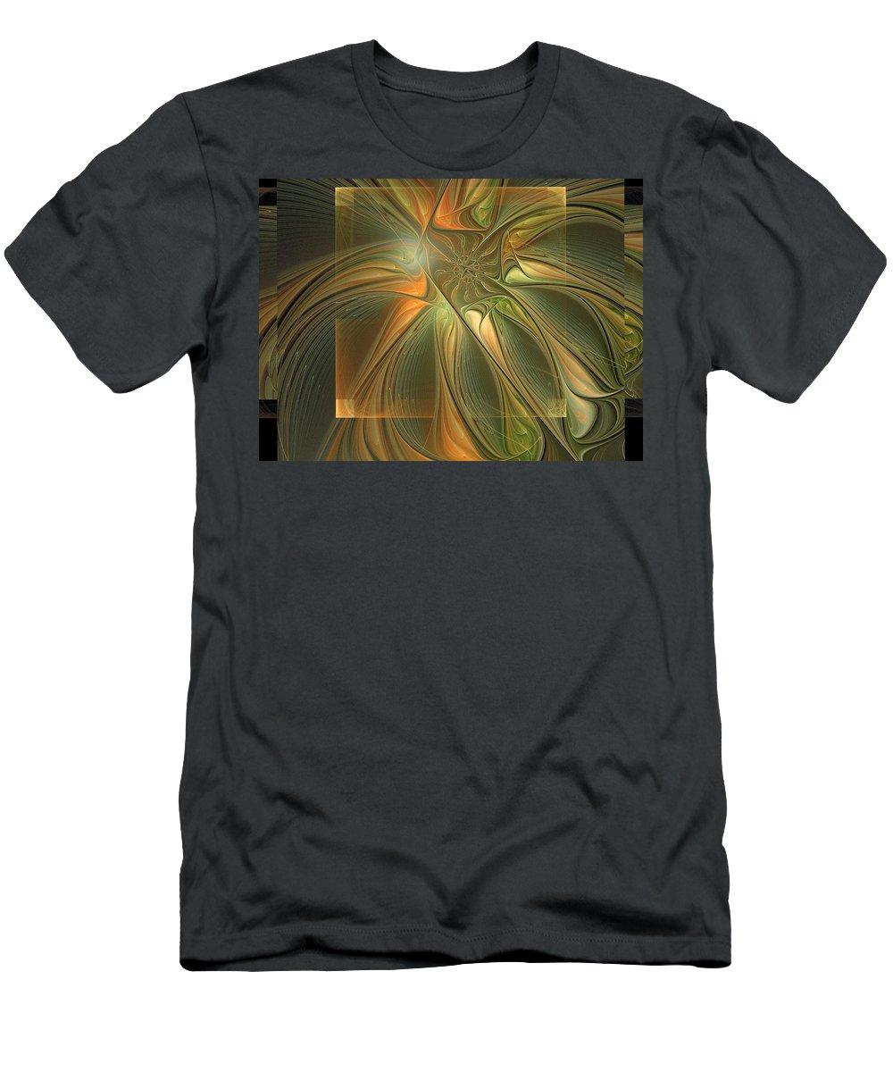 Digital Art Men's T-Shirt (Athletic Fit) featuring the digital art Layers by Amanda Moore