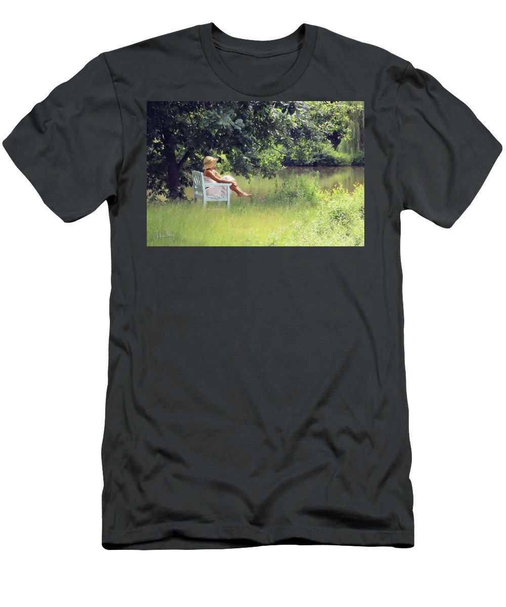 Summer Men's T-Shirt (Athletic Fit) featuring the digital art Lazy Days by Julian Perry