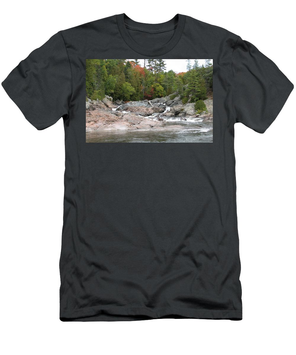 River Men's T-Shirt (Athletic Fit) featuring the photograph Lazy River by Kelly Mezzapelle