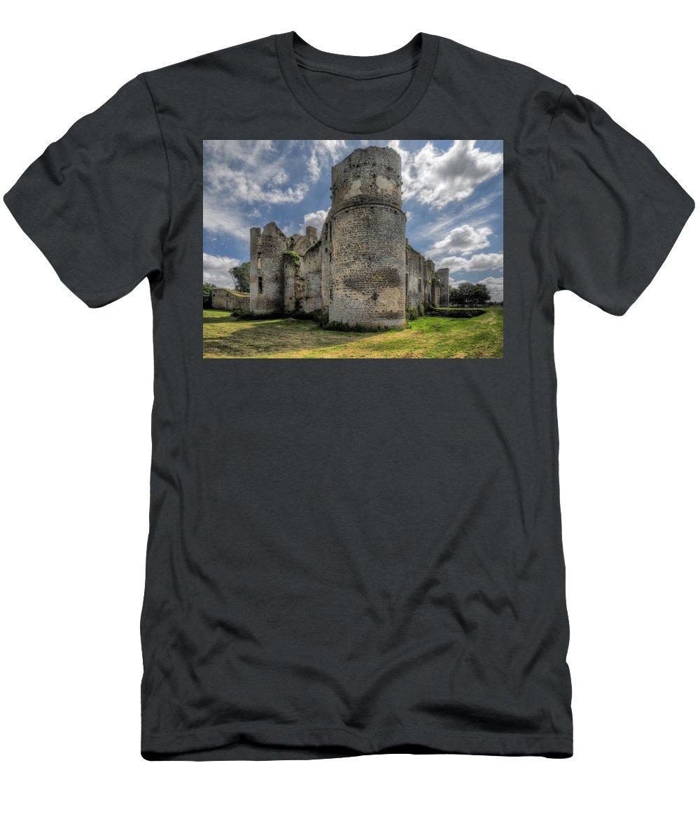 Le Bois Thibault Men's T-Shirt (Athletic Fit) featuring the photograph Le Bois Thibault Chateau by Rob Lester