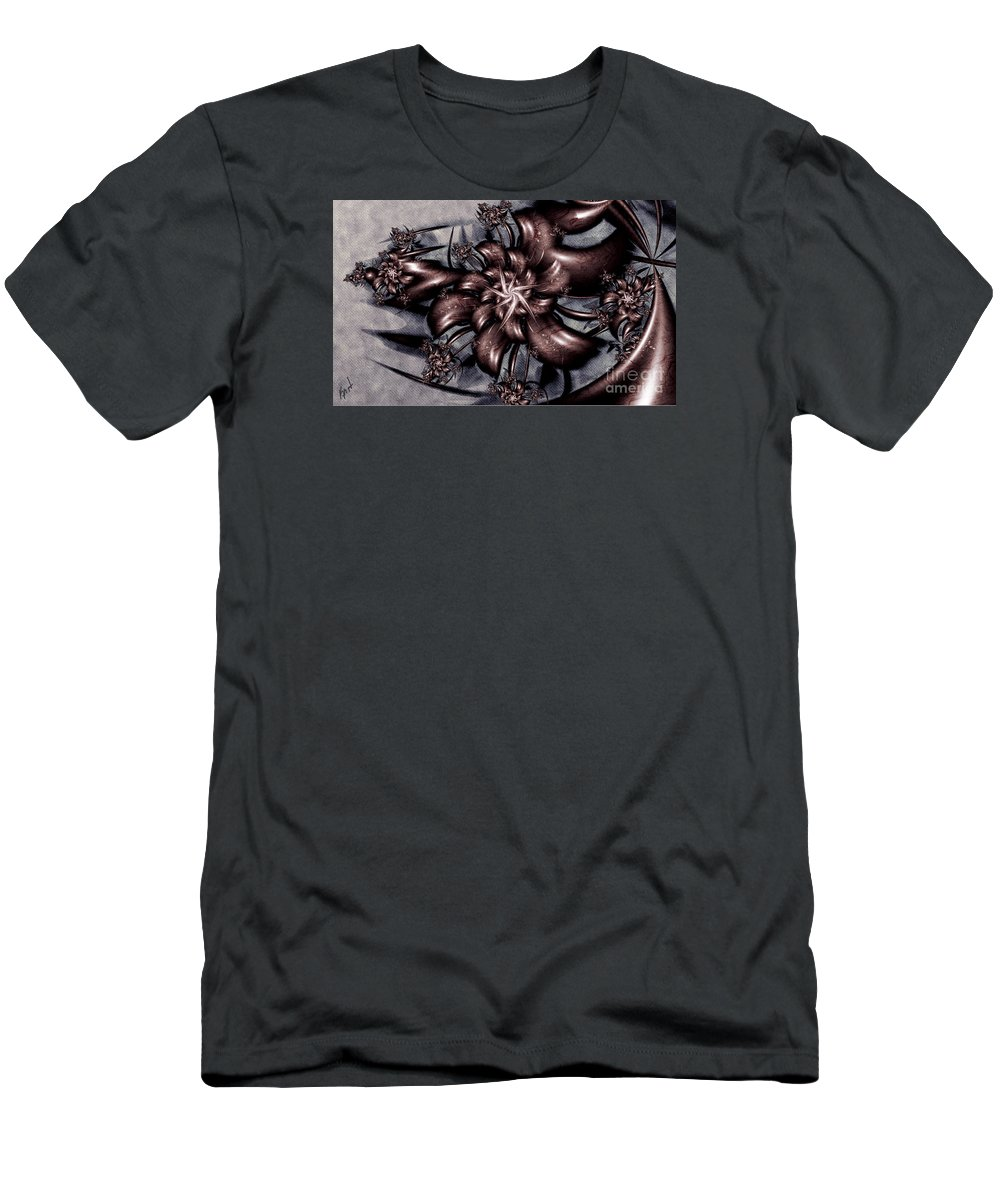 Le Chemin Men's T-Shirt (Athletic Fit) featuring the digital art Le Chemin by Kimberly Hansen