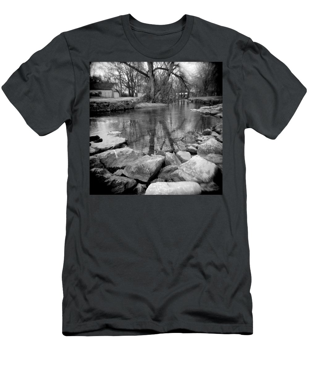 Photograph Men's T-Shirt (Athletic Fit) featuring the photograph Le Tort Reflection by Jean Macaluso