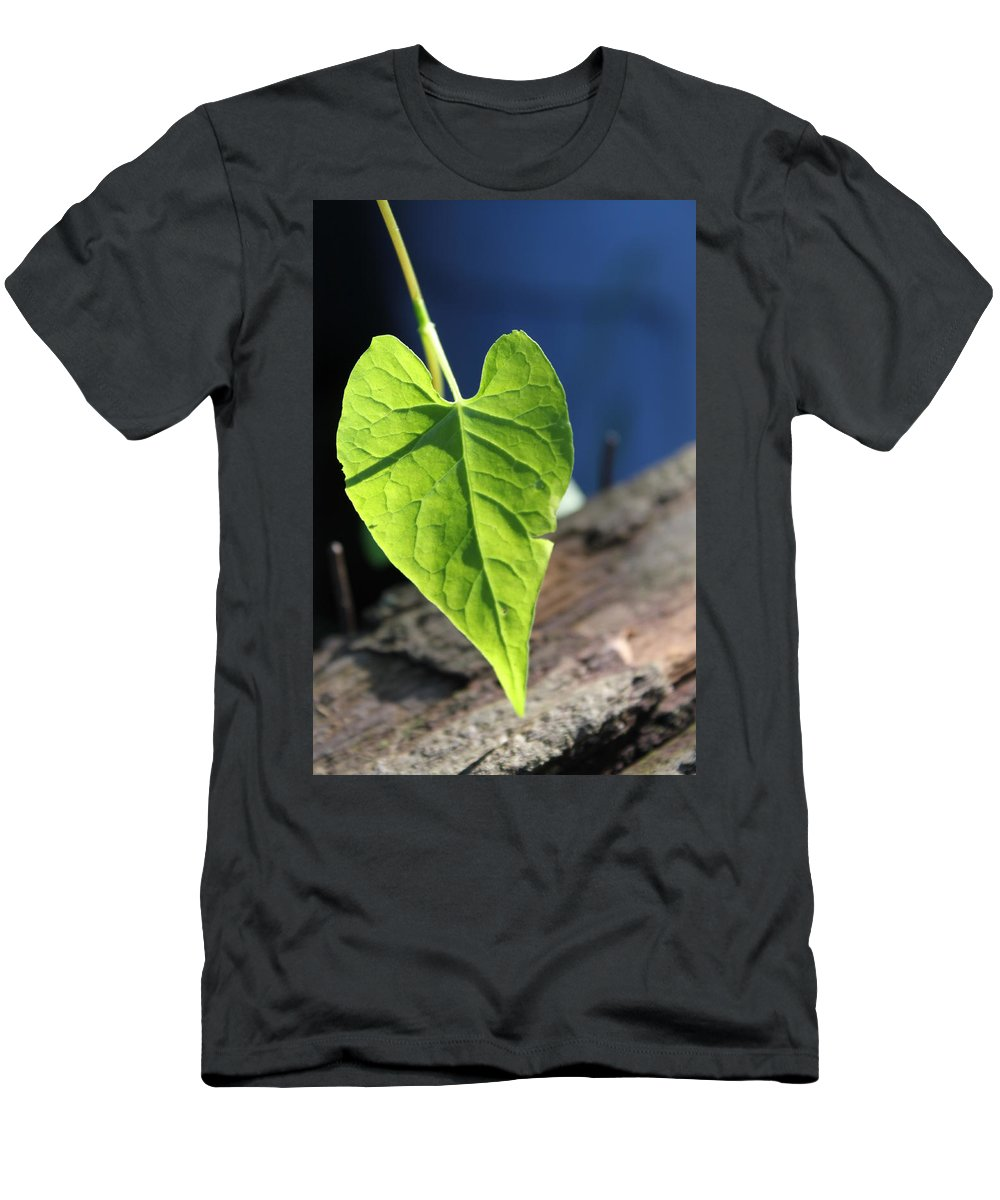 Leaf Men's T-Shirt (Athletic Fit) featuring the photograph Leafy Veins by Lauri Novak