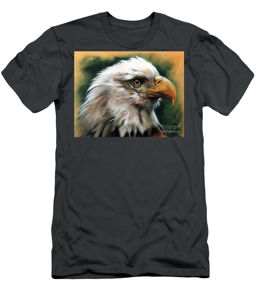 Southwest Art Men's T-Shirt (Athletic Fit) featuring the painting Leather Eagle by J W Baker