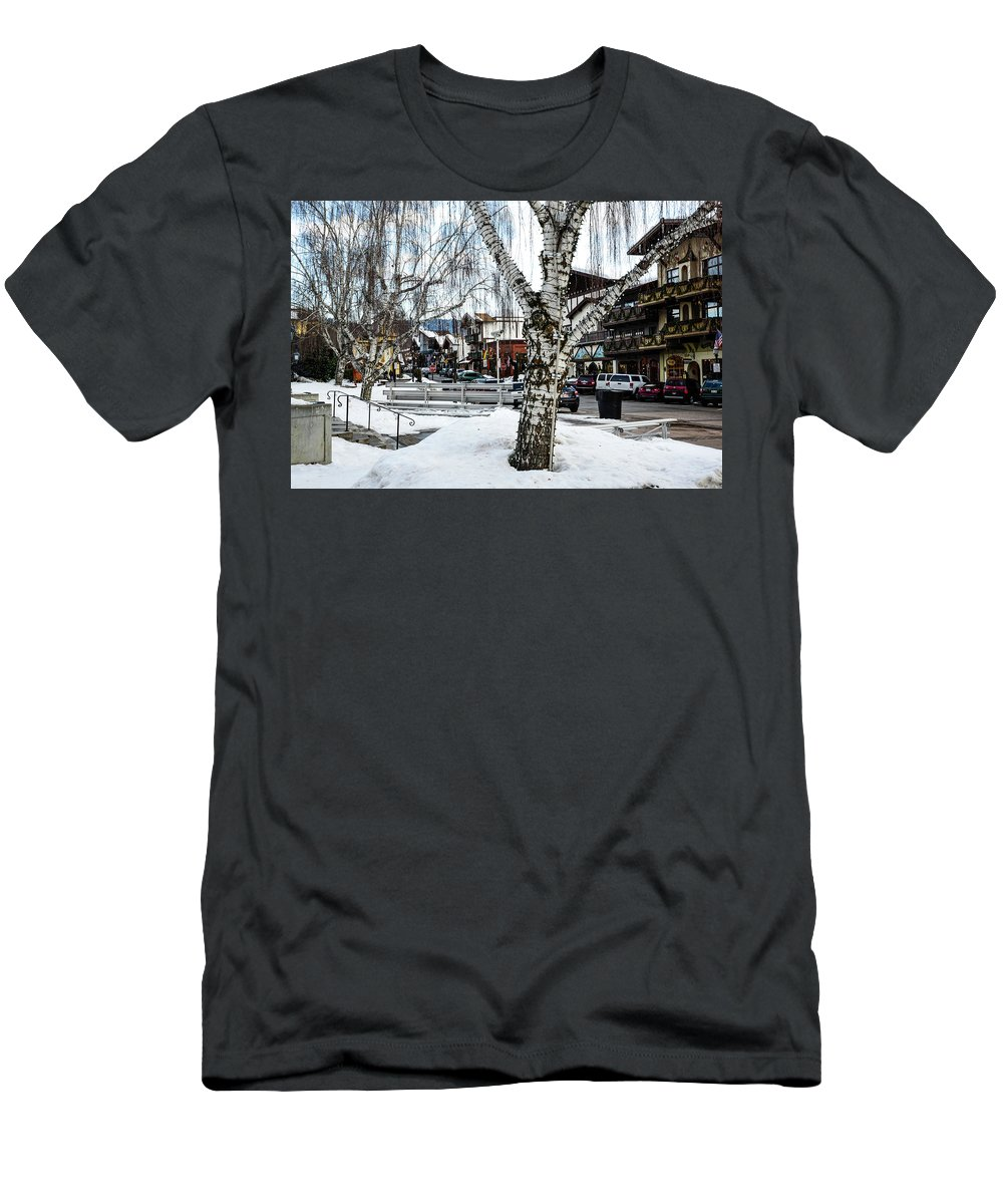 Leavenworth Lights Remain Men's T-Shirt (Athletic Fit) featuring the photograph Leavenworth Lights Remain by Tom Cochran