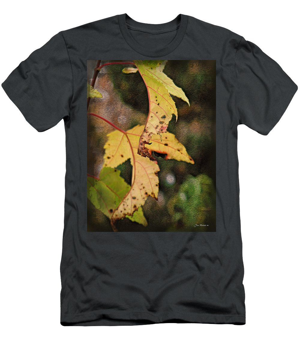 Autumn Men's T-Shirt (Athletic Fit) featuring the photograph Leaves And Autumn by Joan Minchak