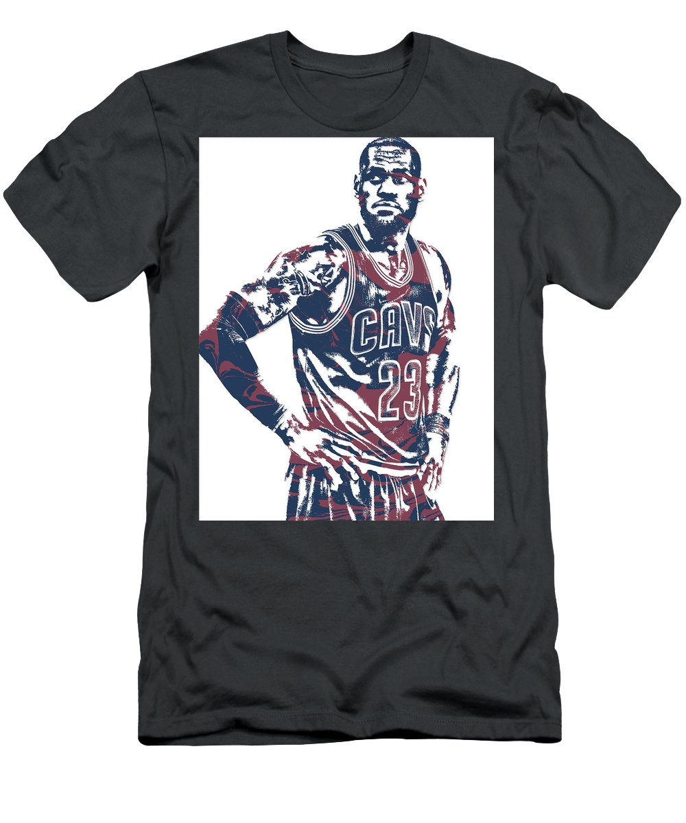 c5cb1383cd7 Lebron James Cleveland Cavaliers Pixel Art 25 T-Shirt for Sale by Joe  Hamilton