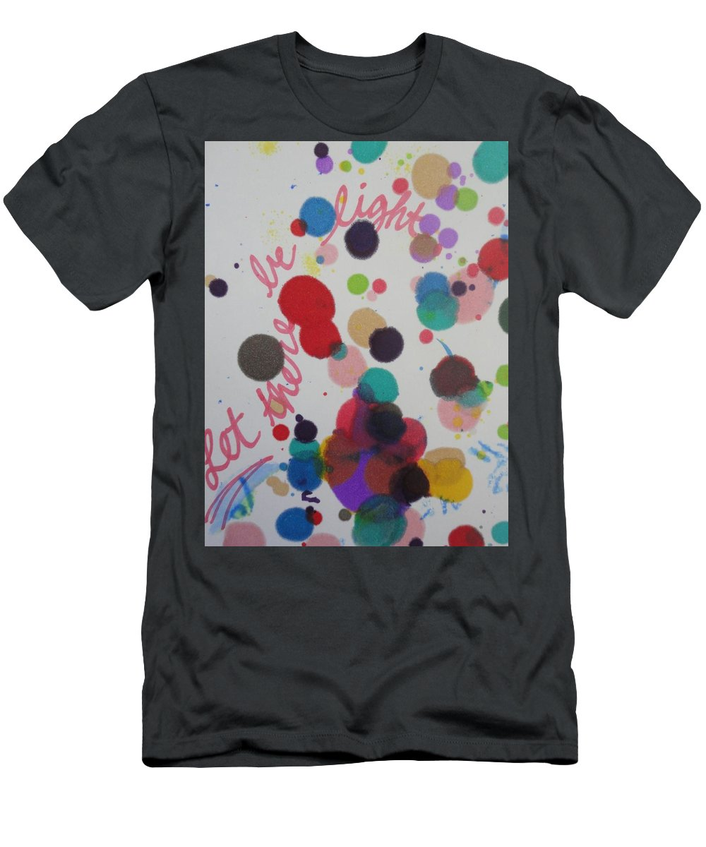 Light T-Shirt featuring the painting Let There Be Light by Vonda Drees