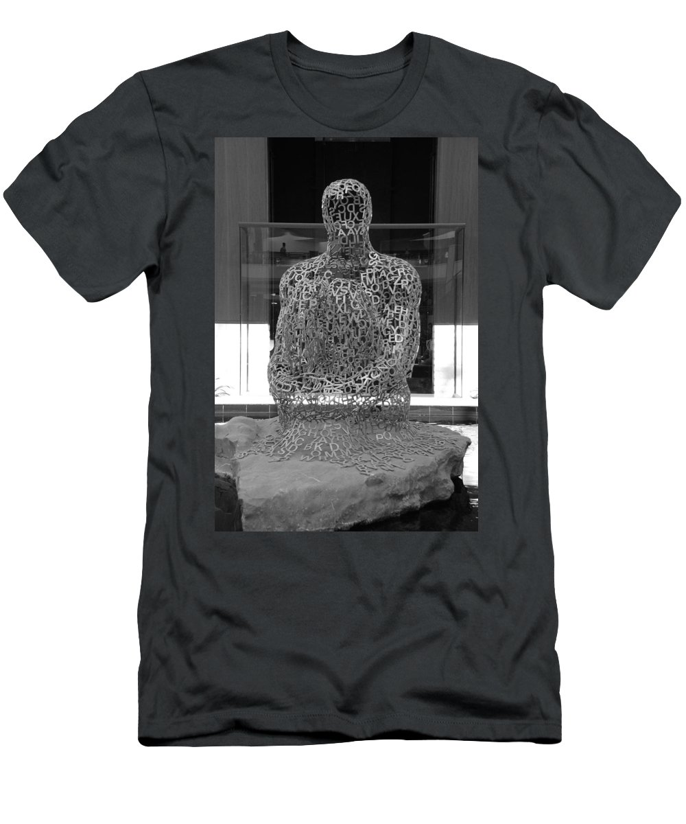 Black And White Men's T-Shirt (Athletic Fit) featuring the photograph Letter Man by Rob Hans
