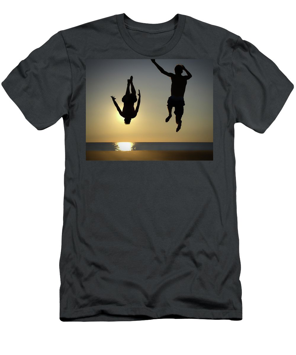 Summer Men's T-Shirt (Athletic Fit) featuring the photograph Letting Go by LuAnn Griffin