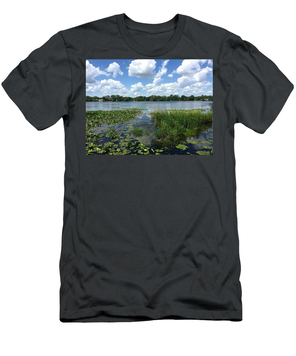 Nature Men's T-Shirt (Athletic Fit) featuring the photograph Leu Gardens Waterscape by Denise Mazzocco
