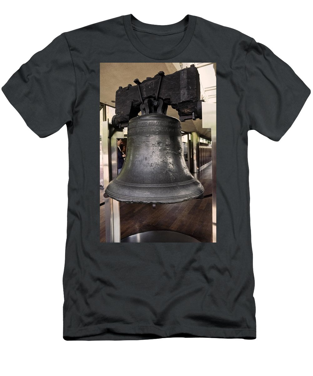Liberty Bell Men's T-Shirt (Athletic Fit) featuring the photograph Liberty Bell by Sally Weigand