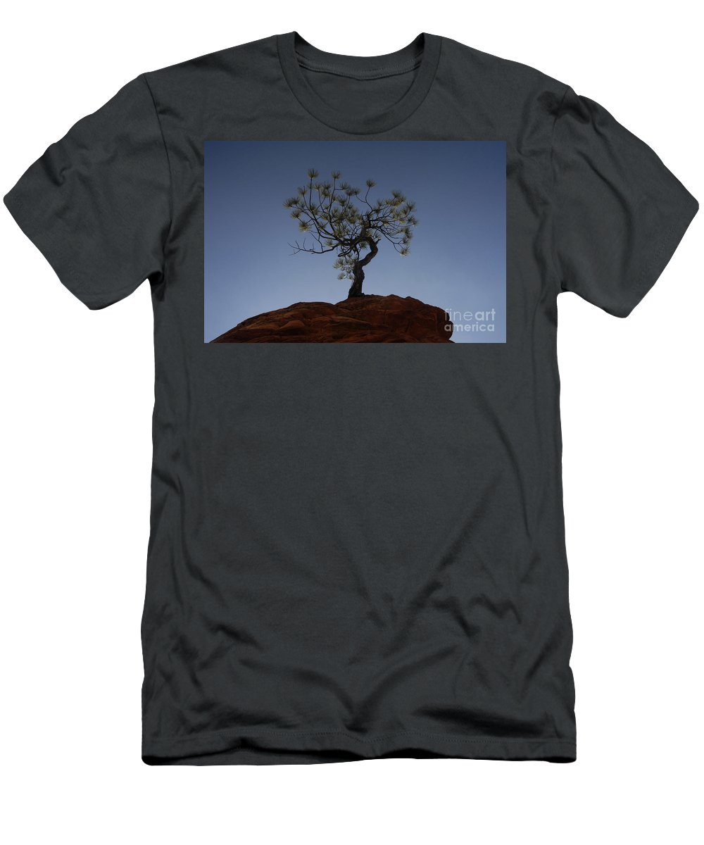 Tree Men's T-Shirt (Athletic Fit) featuring the photograph Life Force by David Lee Thompson