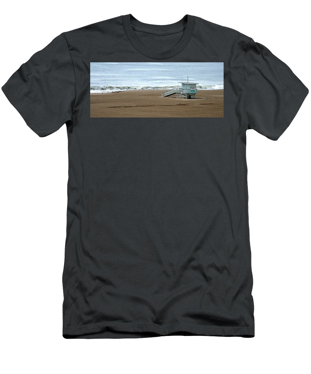 Beach Men's T-Shirt (Athletic Fit) featuring the photograph Life Guard Stand - Color by Shari Chavira
