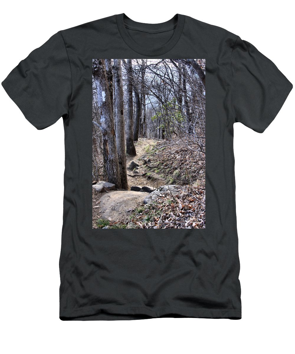 Men's T-Shirt (Athletic Fit) featuring the photograph Life Is Not A Rocky Road... This Is... by Maris Salmins