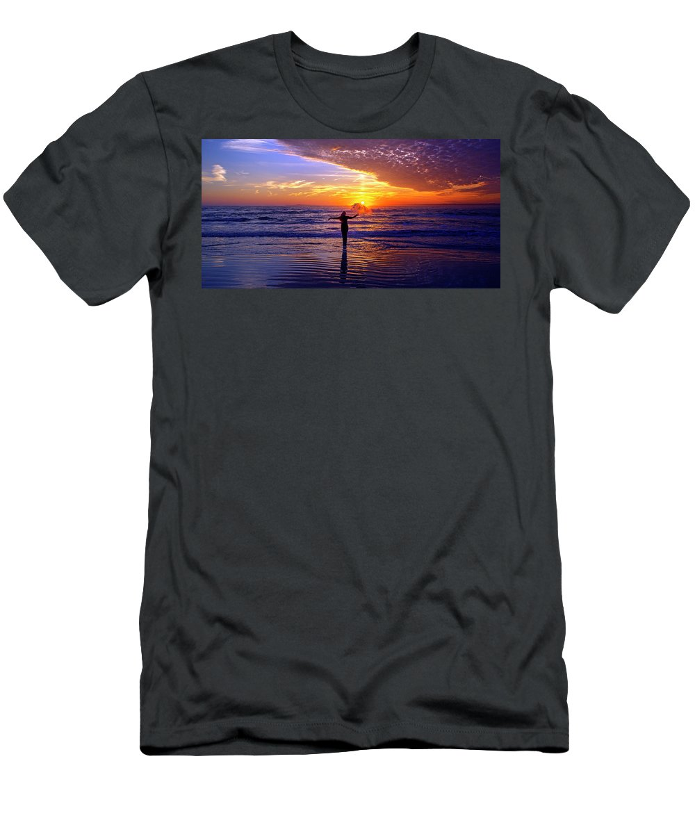 Topsail Men's T-Shirt (Athletic Fit) featuring the photograph Light Of My Life by Betsy Knapp
